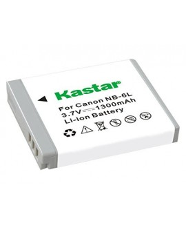 Kastar Battery (1-Pack) for NB-6L, CB-2LY and Canon PowerShot D20, S90, S95, S120, SD980 IS, SD1300 IS, SD4000 IS, SX170 IS, SX240 HS, SX260 HS, SX280 HS, SX510 HS, SX600 HS, SX700 HS Cameras