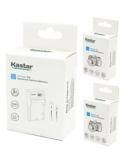 Kastar Battery (X2) & SLIM LCD Charger for Canon LP-E17, LC-E17, LC-E17C and Canon EOS M3, EOS Rebel T6i, EOS Rebel T6s, EOS 750D, EOS 760D, EOS 8000D, Kiss X8i camera