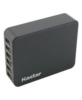 Kastar 35 Watts 5V 6.5A 6-Port USB Family-Sized Desktop Rapid Charger Station, Multi Port USB Wall Charger, Portable Travel Charger, Travel Power Adapter USB Charger Hub for iPhone 6, 6 Plus, 5S, 5C, 5, iPad Air, iPad2,3,4,iPad Mini, iPods Samsung Galaxy