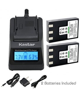 Kastar Ultra Fast Charger(3X faster) Kit and NB-1L Battery (2-Pack) for Canon NB-1L NB-1LH CB-2LSE work with Canon IXY Digital 200 200a 300 300a 320 400 430 450 500 S200 S230 S330 PowerShot S200 S230 S300 S330 S400 S410 S500 Cameras [Over 3x faster than a