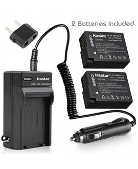 Kastar Battery (X2) & AC Travel Charger for Panasonic DMW-BLC12, DMW-BLC12E, DMW-BLC12PP and Panasonic Lumix DMC-FZ200, DMC-FZ1000, DMC-G5, DMC-G6, DMC-GH2 Digital Cameras