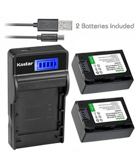 Kastar Battery (X2) & SLIM LCD Charger for Samsung IA-BP210R IA-BP210E IA-BP420E and SMX-F44 F50 F53 F54 F500 F501 F530 HMX-F80 F90 H200 H300 H304 S10 S15 S16 Camera