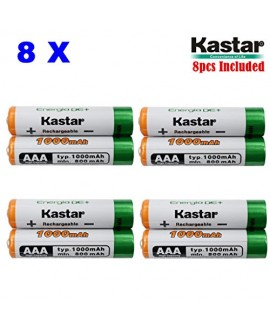 Kastar AAA (8-Pack) Ni-MH 1000mAh Super High-Capacity Rechargeable Batteries Pre-charged