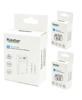 Kastar Battery (X2) & SLIM LCD Charger for Samsung SB-LSM320 and SC-D351 VP-D351 VP-D351i VP-D352 VP-D352i VP-D353 VP-D353i VP-D354 VP-D354i VP-D647 VP-D651 VP-D653 VP-DC161 VP-DC161i DC163 DC163i
