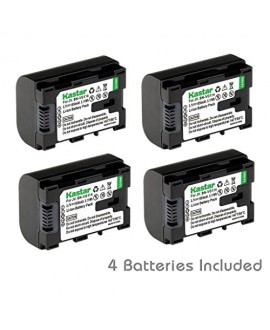 [Fully Decoded] Kastar BN-VG114 Battery (4-Pack) Replacement for JVC BN-VG107 BN-VG107U BN-VG107US BN-VG114 BN-VG114U BN-VG114US BN-VG121 BN-VG121U BN-VG121US Battery and JVC Everio Cameras