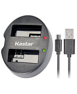 Kastar Dual USB Charger for Canon LP-E8, LC-E8E and Canon EOS 550D, EOS 600D, EOS 700D, EOS Rebel T2i, EOS Rebel T3i, EOS Rebel T4i, EOS Rebel T5i Cameras, Grip BG-E8