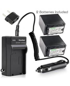 Kastar VBD78 Battery 2 Pack + Charger for Panasonic VW-VBD29 VW-VBD58 VW-VBD78 & AG-3DA1 AG-AC8 AG-DVC30 AG-HPX171 AG-HPX250 AG-HPX255 AG-HVX201 AJ-PCS060 AJ-PX270 AJ-PX298 HC-MDH2 HC-X1000 HDC-Z10000