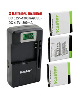 Kastar BL-53QH Battery (3-Pack) and intelligent mini travel Charger ( with high speed portable USB charge function) for LG P870 MS870 P769 / LG MS769 P880 VS930 / LG Escape P870 / LG Spirit 4G MS870 / LG Optimus L9 Optimus 4G P769 / LG Optimus L9 Optimus