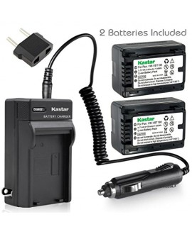 Kastar Battery (2-Pack) and Charger Kit for Panasonic VW-VBT190 and HC-V110 V130 V160 V180 HC-V201 V210 V250 HC-V380 HC-V510 V520 V550 HC-V710 V720 V750 V770 HC-VX870 HC-VX981 HC-W580 W850 HC-WXF991