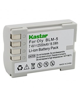 Kastar Battery (1-Pack) for Olympus BLM-5, PS-BLM5 work with Olympus C-8080 C-7070 C-5060 E1 E3 E5 E300 E330 E500 E510 E520 Digital Cameras