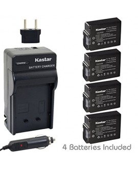 Kastar Battery (4-Pack) and Charger Kit for Nikon EN-EL21, MH-28 work with Nikon 1 V2 Camera