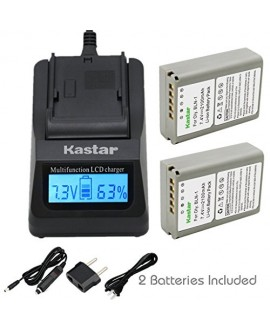 Kastar Ultra Fast Charger(3X faster) Kit and Battery (2-Pack) for Olympus BLN-1, BCN-1, BLN1 and Olympus OM-D E-M1, OM-D E-M5, PEN E-P5 Digital Cameras