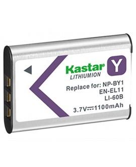 Kastar Battery (1-Pack) for NP-BY1, EN-EL11, LI-60B, DLI-78, DB-L70, DB-80, BC-CSY, LI-60C, MH-64 work with Sony Action Cam Mini HDR-AZ1, Nikon Coolpix S550, S560, Olympus FE-370, Pentax Optio L50, M50, M60, S1, V20, W60, W80, Ricoh R50, Sanyo Xacti VPC-E