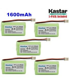 Kastar 5 PACK AAX2 2.4V Phone Battery for Vtech Bt17333 Bt27333 Cs2111 Cs5111 Cs5121 Cs5121-2 Cs5111-2 Cs5121-3 Cs5211 At&t 01839 24112 4128 El41108 El41208 Radio Shack Cs90174 12280731 23-956 23-9069