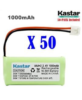 Kastar 50-PACK AAAX2 2.4V EH 1000mAh Ni-MH Rechargeable Battery for BT184342 BT284342 BT18433 BT28433 BT1011 BT-1022 BT-1031 Vtech CS6229 DS6301 Uniden Wxi3077 ECT4066 DECT4096 Motorola Cordless phone