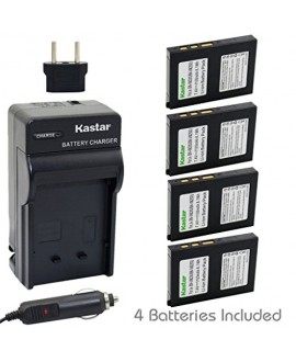 Kastar Battery (4-Pack) and Charger Kit for BN-VM200 BN-VM200U work with JVC GZ-MC100 GZ-MC200 GZ-MC500 GZ-MC100EK GZ-MC200E GZ-MC500EK GZ-MC100EX GZ-MC200EX GZ-MC500EX GZ-MC100US GZ-MC200US GZ-MC500US Cameras