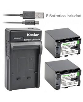 Kastar 2X Battery + Slim USB Charger for JVC BN-VG138, BN-VG138U, BN-VG138US, BN-VG121, BN-VG121U, BN-VG121US, BN-VG107, BN-VG107U, BN-VG108, BN-VG114, BN-VG114U, BN-VG114US, JVC Everio GZ-E Series