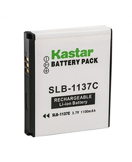 Kastar Battery 2 Pack for Samsung SLB-1137C SLB1137C 1137C Battery and Samsung i7, Samsung Digimax i7 Cameras
