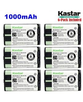 Kastar HHR-P104 Battery (6-Pack), Type 29, NI-MH Rechargeable Cordless Telephone Battery 3.6V 1000mAh, Replacement for Panasonic HHR-P104 HHR-P104A,23968 439024 439025 439026 439030 439031,KX-FG6550 KX-FPG391 KX-TG2302 KX-TG230 KX-TG2312 KX-TG2355W KX-TG2