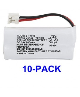 Kastar 10-PACK BT1018 Cordless Phone Battery for Uniden BT-1011 BT-1018 BT-6010 BT-184342 BT-28433 BT-18433 BT-284342 BT-8000 BT-8001 BT-8300 CS6219 CS6229 DS6111 DECT3080 DECT3080-2 DECT4086 DECT4096