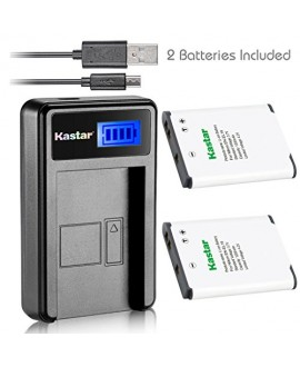Kastar Battery (X2) & LCD USB Charger for Nikon EN-EL19 & Coolpix S32 S100 S2500 S2600 S2700 S2800 S3100 S3200 S3300 S3400 S3500 S3600 S4100 S4200 S4300 S4400 S5200 S5300 S6400 S6500 S6600 S6700 S6800