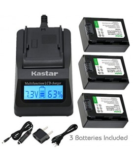 Kastar Ultra Fast Charger(3X faster) Kit and BP210E Battery (3-Pack) for Samsung IA-BP210R IA-BP210E IA-BP420E and SMX-F44 F50 F53 F54 F500 F501 F530 HMX-F80 F90 H200 H300 H304 S10 S15 S16 Camera
