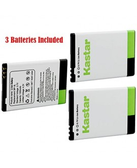 Kastar BP-3L Battery (3-Pack) for Nokia Lumia 710 Sabre, N303, N603, 610, 3030, Asha 303, Lumia 510, Glory, Lumia 510.2, AT&T, T-Mobile, Sprint, Verizon Smartphone --Supper Fast and Free Shipping from USA