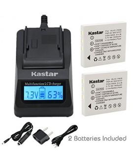 Kastar Ultra Fast Charger(3X faster) Kit and Battery (2-Pack) for Kodak KLIC-7005, Samsung SLB-0737, SLB-0837, Panasonic CGA-S004, CGA-S004A, CGA-S004E, CGR-S001B, DMW-BCB7, Fujifilm NP-40, NP-40N, Sanyo NP-40, UF55346, Pentax D-Li8, Benq Dli-102, Konica