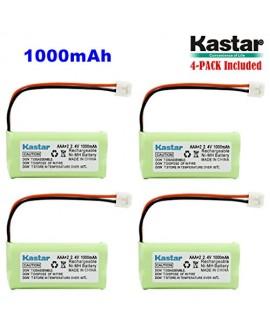 Kastar 4-PACK AAAX2 2.4V EH 1000mAh Ni-MH Rechargeable Battery for BT184342 BT284342 BT18433 BT28433 BT-1011 BT-1022 BT-1031 Vtech CS6229 DS6301 Uniden Wxi3077 ECT4066 DECT4096 Motorola Cordless phone