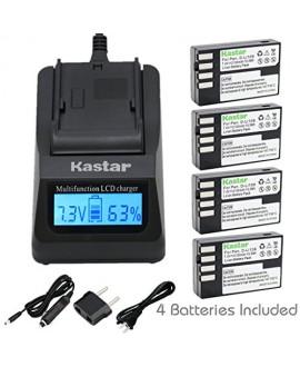 Kastar Ultra Fast Charger(3X faster) Kit and D-Li109 Battery (4-Pack) for Pentax D-Li109, DLI109 work with Pentax K-R, K-30, K-50, K-500, KR, K30, K50, K500 Cameras