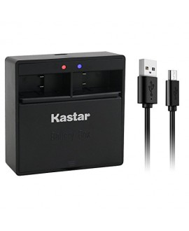 Kastar Dual USB Charger for GoPro HERO5, Hero 5 Black, Gopro5 and GoPro AHDBT-501, AHBBP-501 Sport Camera (Compatible with Firmware v01.57, v01.55 and Future Update)