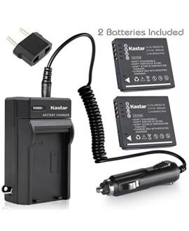 Kastar Battery (X2) & Slim USB Charger for Panasonic DMW-BCF10 & Lumix DMC-TS2 TS3 TS4 DMC-F2 F3 DMC-FH1 FH3 DMC-FH20 FH22 DMC-FS6 DMC-FS12 DMC-FS15 DMC-FS25 DMC-FS42 FS62 DMC-FT1 DMC-FP8 DMC-FX700