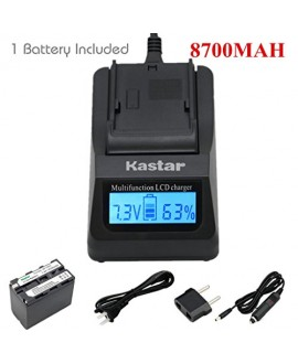 Kastar NP-F970 Battery (4-Pack) and Charger Kit for Sony NP-F975, NP-F960, NP-F950 and Sony L Type Camcorder DCR-VX2100, FDR-AX1, HDR-AX2000, HDR-FX7, HDR-FX1000, HVR-V1U, NEX-FS100U, NEX-FS700U…