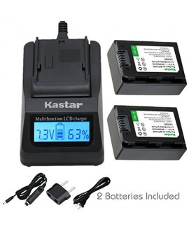 Kastar Ultra Fast Charger(3X faster) Kit and BP210E Battery (2-Pack) for Samsung IA-BP210R IA-BP210E IA-BP420E and SMX-F44 F50 F53 F54 F500 F501 F530 HMX-F80 F90 H200 H300 H304 S10 S15 S16 Camera