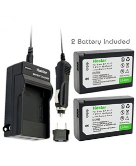 Kastar BP-1410 Battery (2-Pack) and Charger Kit for Samsung BP1410 and NX30 WB2200F Digital Cameras