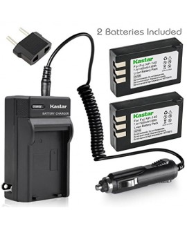 Kastar Battery (X2) & AC Travel Charger for Fujifilm NP-140 Fuji NP-140 NP140 FNP140 and Fujifilm FinePix S100FS, Fujifilm FinePix S200EXR, Fujifilm FinePix S205XR Cameras