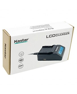 Kastar Fast Charger Kit and BN-VF808 Battery (1-Pack) for JVC BN-VF808U, BN-VF815, BN-VF815U, BN-VF823, BN-VF823U and JVC MiniDV, Everio GZ-MG130, 155, 255, GZ-MG555 and other specified camcorder