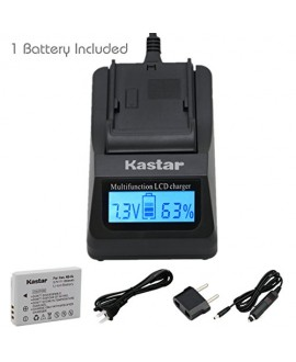 Kastar Fast Charger + NB-5L Battery (1-Pack) for Canon PowerShot S100, S110, SD700, SD790, SD800, SD850, SD870 IS, SD880, SD890, SD900, SD950, SD970, SD990 IS, SX200 IS, SX210 IS, SX220 IS, SX230 HS