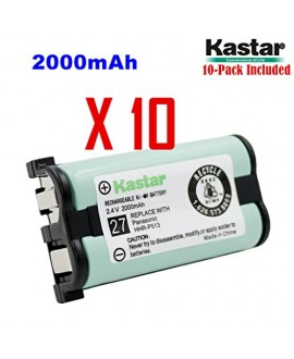 Kastar HHR-P513 Battery (10-Pack), Type 27, NI-MH Rechargeable Cordless Telephone Battery 2.4V 2000mAh, Replacement for Panasonic HHR-P513 HHR-P513A HHR-P513A1B HRR-P513A1B KX-TG2208 KX-TG2208B KX-TG2208W KX-TG2214 KX-TG2214B KX-TG2214S KX-TG2214W KX-TG22