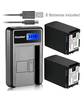 Kastar Battery X2 & Slim LCD USB Charger for Canon BP-827 VIXIA HF10 HF11 HF20 HF21 HF100 HF200 HF G10 HF M30 HF M31 HF M32 HF M40 M41 HF M300 M400 HF S10 S11 S20 S21 S30 S100 S200 HG20 HG21 HG30 XA10
