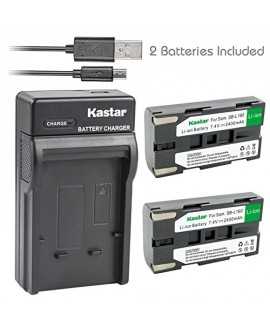 Kastar Battery (X2) & Slim USB Charger for Samsung SB-L160 and SC-L520 530 550 600 610 630 650 700 710 750 770 810 VP-W75D VM-B5700 VM-C170 VM-C300 VM-C3700 VP-W80 VP-W80U VP-W87 VP-W87D VP-W90 VP-W97