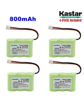 Kastar 4-PACK 2/3AA 3.6V 800mAh EH Ni-MH Rechargeable Battery for AT&T 2422 80-5074-00-00 Lucent 2422 Vtech ia5870 ia5882 Sanik 3SN-2/3AA30-S-J1 Cordless Phone (Check your Cordless Phone Model down)