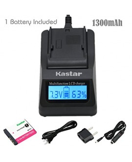 Kastar Ultra Fast Charger(3X faster) Kit and Battery (1-Pack) for Sony NP-FT1 work with Sony DSC-L1, DSC-L1/B, DSC-L1/L, DSC-L1/LJ, DSC-L1/R, DSC-L1/S, DSC-L1/W, DSC-M1, DSC-M2, DSC-T1,DSC-T3, DSC-T3/B, DSC-T3S, DSC-T5, DSC-T5/B, DSC-T5/N,DSC-T5/R, DSC-T9