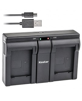 Kastar USB Dual Charger for Samsung SLB-1137D Samsung i80 Samsung i85 Samsung i100 Samsung L74 Samsung Wide NV11 Wide NV24HD Wide NV30 Wide NV40 Wide NV100HD Wide NV103 Samsung Wide NV106 HD