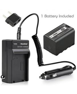 Kastar VBD58 Battery 1 Pack + Charger for Panasonic VW-VBD29 VW-VBD58 VW-VBD78 & AG-3DA1 AG-AC8 AG-DVC30 AG-HPX171 AG-HPX250 AG-HPX255 AG-HVX201 AJ-PCS060 AJ-PX270 AJ-PX298 HC-MDH2 HC-X1000 HDC-Z10000