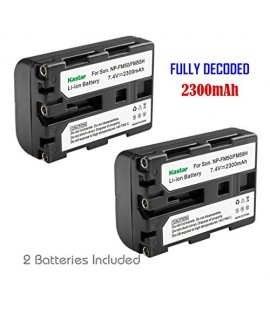Kastar NPFM50 Battery (2-Pack) for Sony NP-FM30 NP-FM50 NP-FM51 NP-QM50 NP-QM51 NP-FM55H and CCD-TR DCR-PC DCR-TRV DCR-DVD DSR-PDX GV HVL Series Camcorder (detail models search in description)