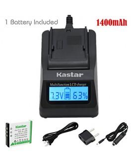 Kastar Ultra Fast Charger(3X faster) Kit and Battery (1-Pack) for Fujifilm NP-50, Kodak KLIC-7004, Pentax D-Li68 work with Fujifilm FinePix F50FD,F60FD,F70EXR,F75EXR,F80EXR,F85EXR,F100FD,F200EXR,F300EXR,F305EXR,F500EXR,F505EXR,F550EXR,F600EXR,F605EXR,F660
