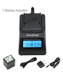 Kastar Ultra Fast Charger(3X faster) Kit and Battery (1-Pack) for Panasonic VW-VBG260 work with Panasonic AG-AC7, AG-AF100, AG-HMC40, AG-HMC80, AG-HMC150, HDC-HS250, HDC-HS300, HDC-HS700, HDC-SD600, HDC-SD700, HDC-SDT750, HDC-TM300, HDC-TM700, SDR-H80 Cam