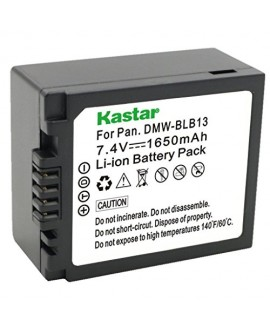 Kastar Battery (1-Pack) for Panasonic DMW-BLB13, DMW-BLB13E, DMW-BLB13GK and Panasonic DE-A49, DE-A49C work with Panasonic Lumix DMC-G1, DMC-G2, DMC-G10, DMC-GF1, DMC-GH1 Cameras