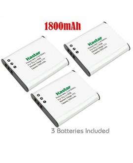 Kastar Battery (3-Pack) for Panasonic VW-VBX090, Olympus Li-50B work with Panasonic HX-WA03, HX-WA2, HX-WA20, HX-WA3, HX-WA301 Digital Cameras